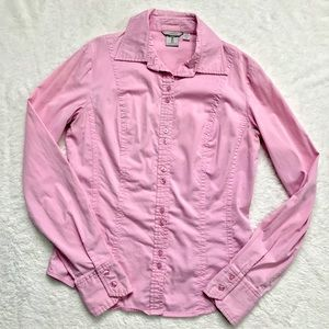 5$ ADD ON - Tristan | Pink Button Down Blouse